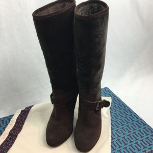 Gianfranco Ferre Brown Velvet and Suede Boot 9